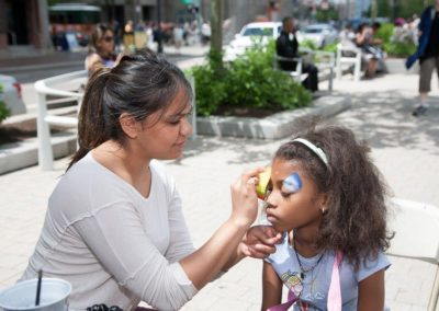 Face painting at the 2016 Celebration